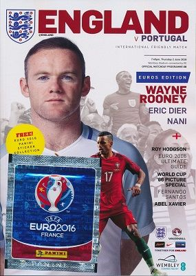 2016 England v Portugal (Euro 2016 'send off' match @ Wembley) - official match programme