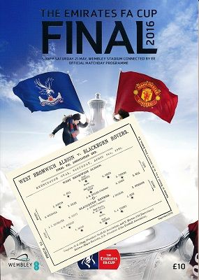 2016 FA Cup Final Manchester United v Crystal Palace with an EXCLUSIVE extra!