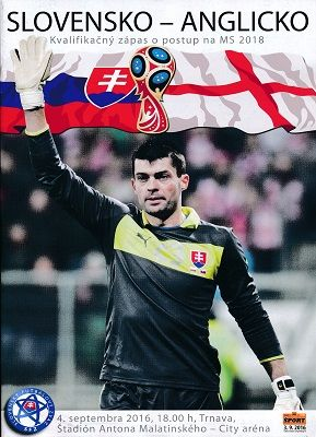 2016 Slovakia v England (World Cup Qualifier) - official match programme