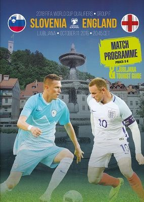 2016 Slovenia v England (World Cup Qualifier) - BOTH official match programmes