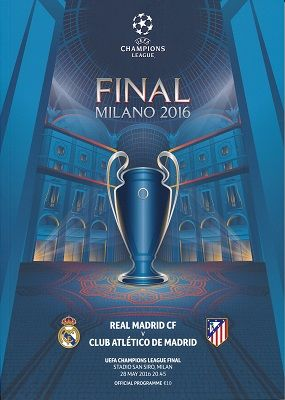 2016 UEFA Champions League Final Real Madrid v Atletico Madrid - official match programme