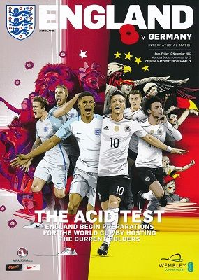 2017 England v Germany (International Friendly @ Wembley) - official match programme
