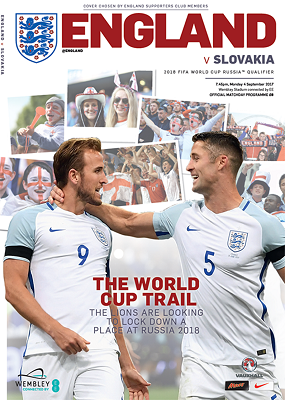 2017 England v Slovakia (World Cup Qualifier @ Wembley) - official match programme