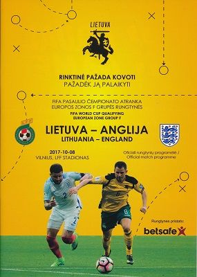 2017 Lithuania v England (World Cup Qualifier) - official match programme