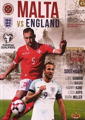 2017 Malta v England (World Cup Qualifier) - official match programme
