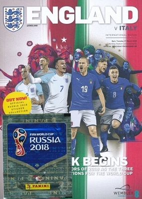 2018 England v Italy (International Friendly @ Wembley) - official match programme