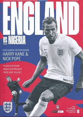 2018 England v Nigeria (World Cup 'send off' @ Wembley) - official match programme