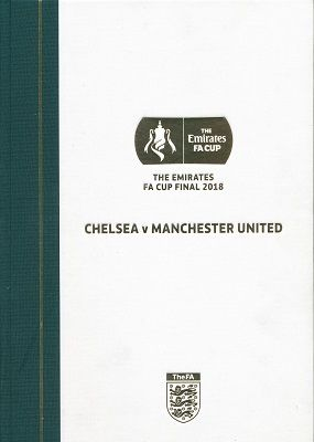2018  FA Cup Final Chelsea v Manchester United - LIMITED EDITION Hardback  version