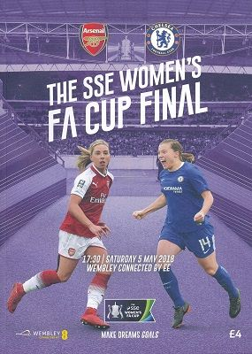 2018 Women's FA Cup Final  Chelsea v Arsenal - official match programme